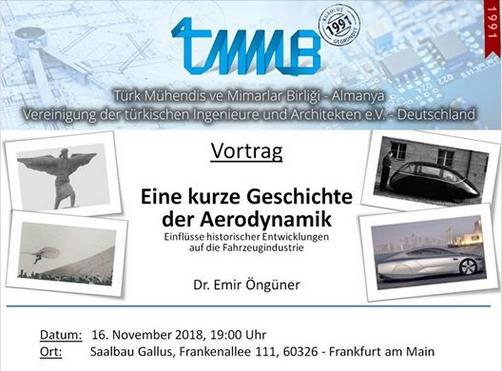 Eine kurze Geschichte Aerodynamik, Dr. Emir Öngüner